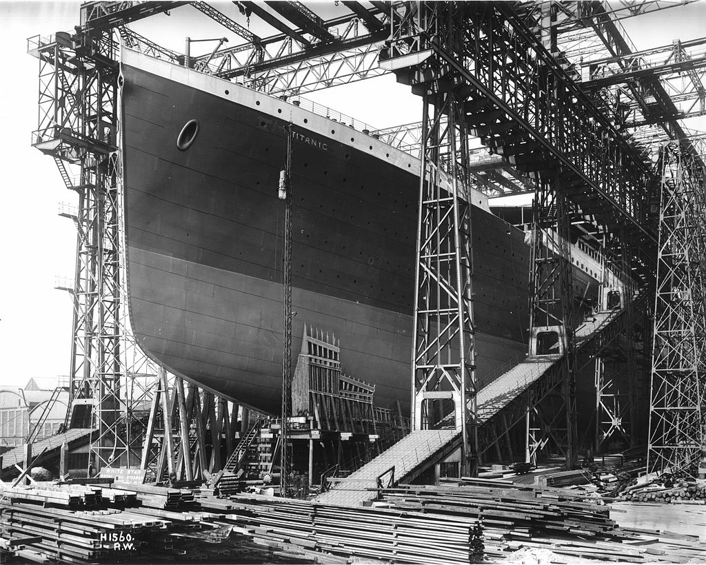 RMS Titanic ready for launch 1911
